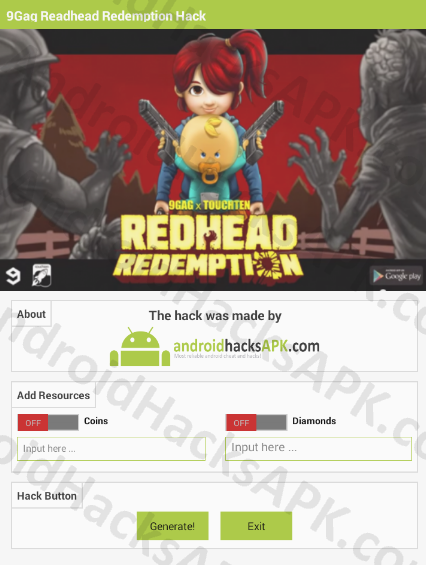 9Gag Readhead Redemption Hack APK Coins and Diamonds